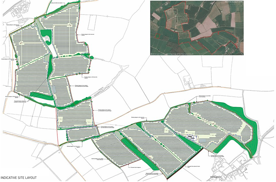 Indicative site of Halloughton Solar Farm